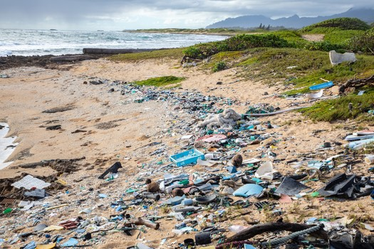 Backers of a new initiative say nearly 9 million tons of plastic waste ends up in the world's oceans each year. (Raftography/Sustainable Coastlines)