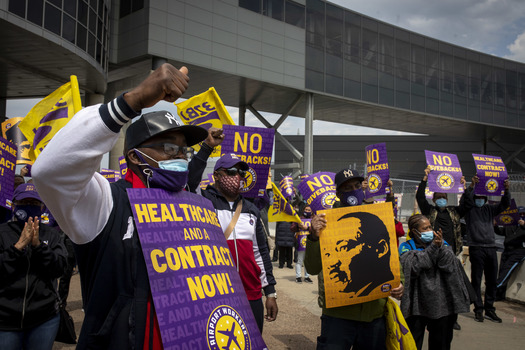 As part of a new contract 3 months in the making, healthcare coverage has already kicked in for over two thousand contract airport workers dating back to July 1. (32BJ SEIU)