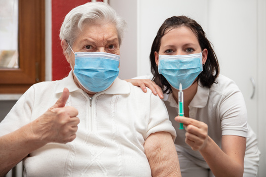 In North Dakota, more than 90% of nursing-home residents are fully vaccinated against COVID-19, compared with just 64% of staff. (Adobe Stock)