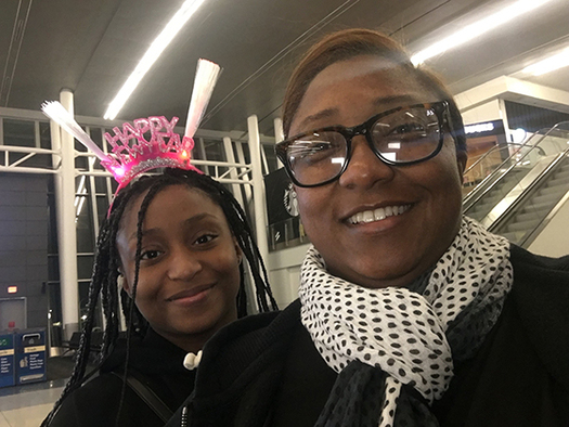Saichelle McNeill of Charlotte (right, with daughter J'Nai) served 27 months in federal prison. Upon release, she endured rejection when she applied for jobs in laundry services, before launching Washroom Laundry. (Courtesy Saichelle McNeill/The Charlotte Post)
