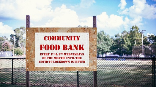 Some seniors experiencing food insecurity collect too much in Social Security benefits to qualify for federal SNAP (food stamp) benefits, and must rely on a local food bank to tide them over. (Queen/Pixabay)
