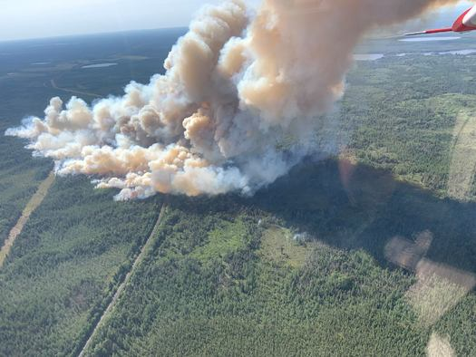 State authorities say the Greenwood Fire in Superior National Forest was caused by a lightning strike. (U.S. Forest Service)