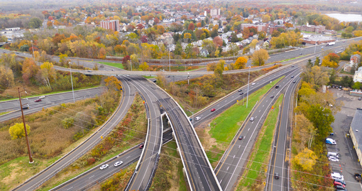 A new report says a 29 percent reduction in transportation emissions from 2014 is needed to meet a 2030 clean air target. (Adobe Stock)