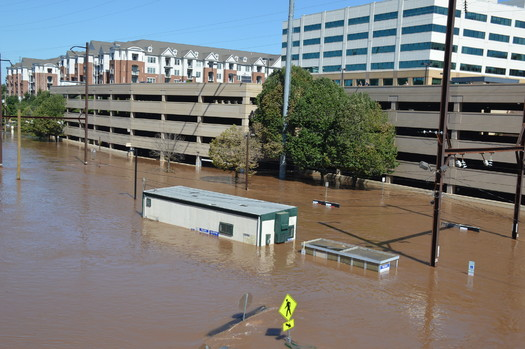 Tropical Storm Ida left towns like Conshohocken, in Montgomery County, completely submerged in floodwaters. (Michael Stokes/Wikimedia Commons)