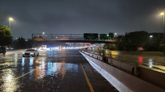 Better flood resiliency is top of mind in New York, after scenes like the Long Island Expressway's partial shutdown in Tropical Storm Ida. But who will pay for it? (Adobe Stock)