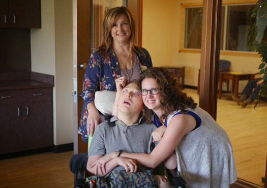 Rachel Winn, right, says her new van should be handicap accessible for her son by November. (Rural Dynamics)