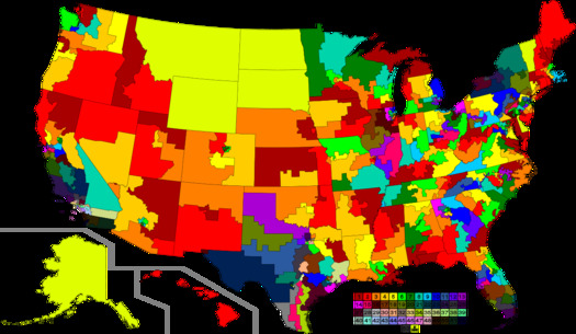 Every 10 years, states, including Arizona, go through the process of using new census data to redraw the boundaries for congressional and legislative districts. (Wikimedia Commons)