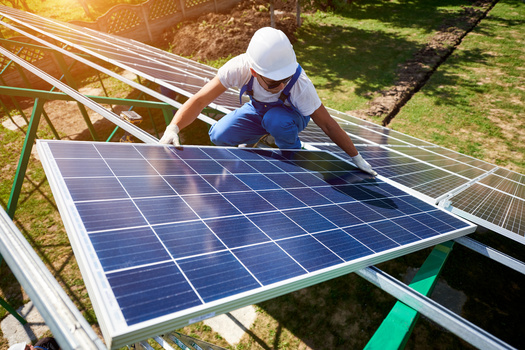 Solar jobs could be an avenue for Montana workers in coal-dependent sectors. (anatoliy_gleb/Adobe Stock)