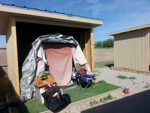 Las Cruces' Camp Hope provides temporary, transitional shelter in the form of tents, showers and cooking facilities while people experiencing homelessness transition to permanent housing. (nmcommunityofhope.org)
