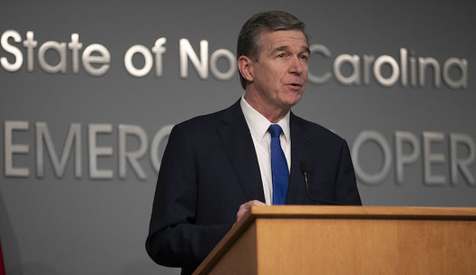 In 2018, North Carolina Gov. Roy Cooper issued Executive Order 80, a commitment to tackle climate change and build a clean energy economy. (Flickr/NC Dept. of Public Safety)<br />