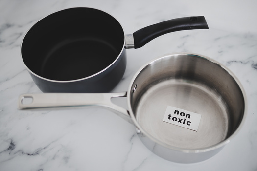 Some consumer groups say stainless-steel cookware is safer than nonstick pans, some of which can contain toxic PFAS chemicals. (Faithie/Adobe Stock)