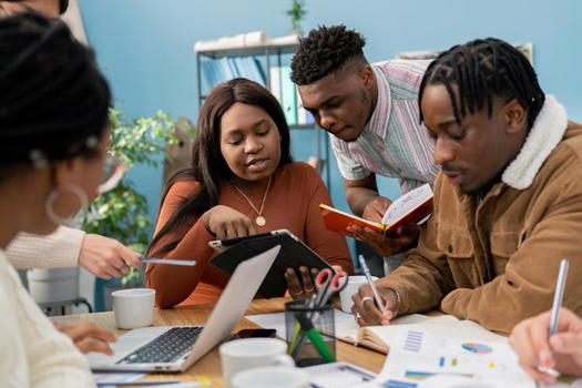 A new program will boost support services, such as child care or school counseling, for students of color taking non-degree courses for workforce readiness at community colleges in six states. (Adobe Stock)<br />