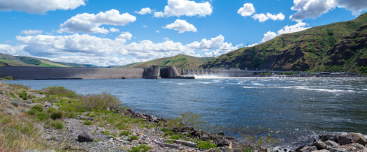 The Lower Granite Lake Dam on the Snake River is among the dams conservation groups want removed to help salmon. (davidrh/Adobe Stock)