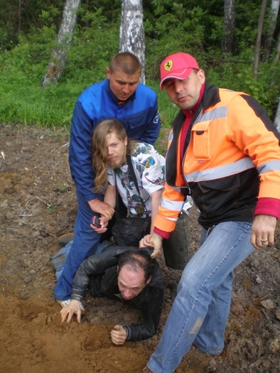 Arrest at Khimki forest last week, photos provided by the activists.