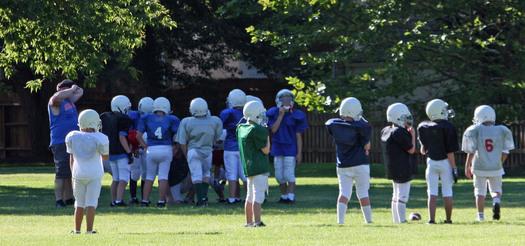 PHOTO: Youth football practice. Photo credit: Deborah Smith