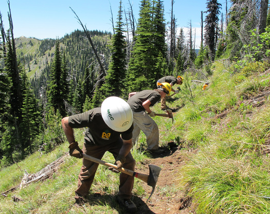 PHOTO: Crew members with the Montana Conservation Corps