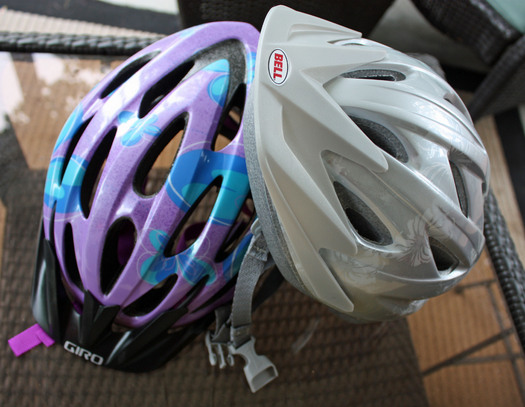 PHOTO: Bicycle helmets. Photo Credit: Deborah Smith