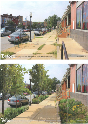 "Image: ""Before"" and ""after"" example in Belair-Edison."