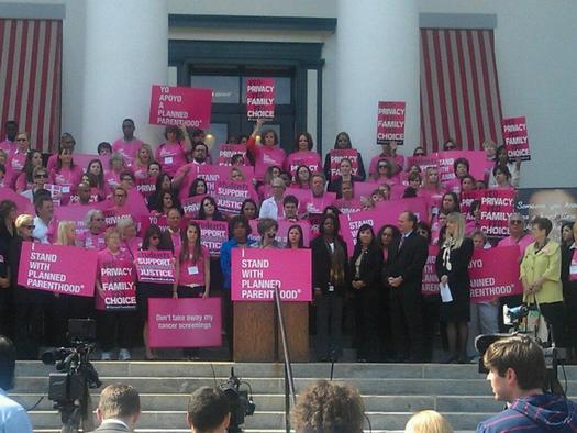 Planned Parenthood supporters in north Florida