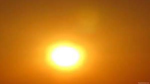 image of hazy sun