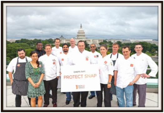 PHOTO: Chefs encouraging protection of SNAP