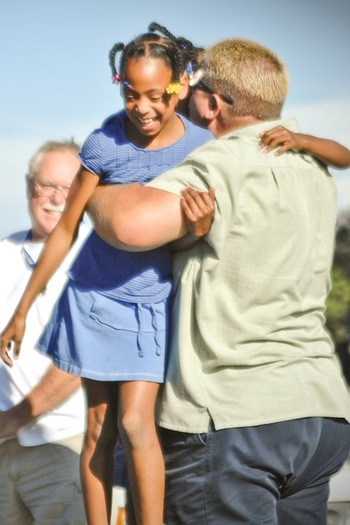 PHOTO: Hugs may be a form of affordable health care