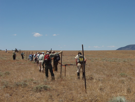 Volunteers on Hart Mountain fence-pull. Photo by Jefferson Jacobs.
