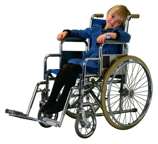 PHOTO: Child in wheelchair.