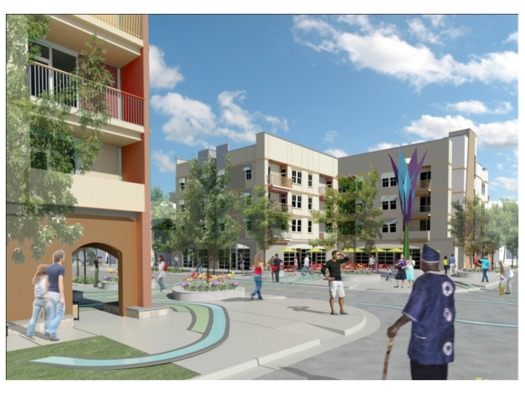 Artist Rendering, Mariposa Redevelopment (2nd phase), opening Summer 2013, Denver Housing Authority.
