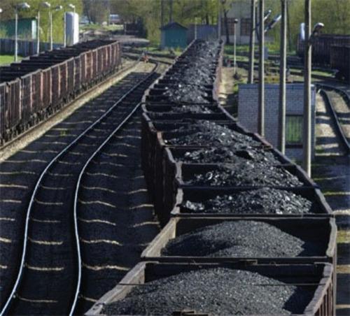 PHOTO: Rail cars loaded with coal.