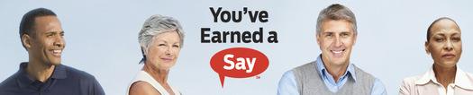 PHOTO: Earned a Say logo