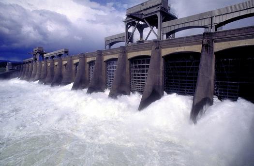 Photo: Spill at Bonneville Dam. Photo courtesy: Bonneville Power Authority.
