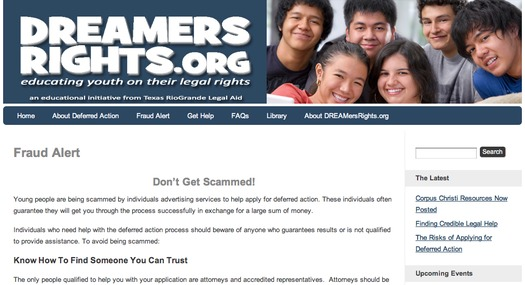 """GRAPHIC: Young undocumented immigrants in Texas now have an online clearinghouse for weighing the potential risks and benefits of applying for the new Department of Homeland  Security's """"deferred action"""" program."""