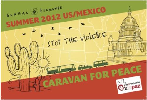 GRAPHIC: Caravan for Peace post card.