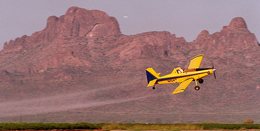 PHOTO: Aerial crop-spraying in Arizona. Photo credit: azcentral.com