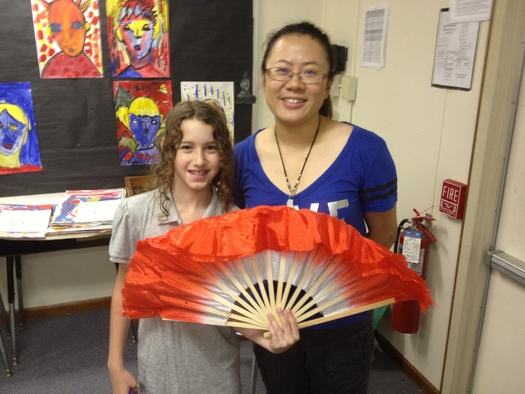 PHOTO: Zenghian brings her Chinese culture to work at Northwood Elementary in High Point. Courtesy of Mo Zengxian.