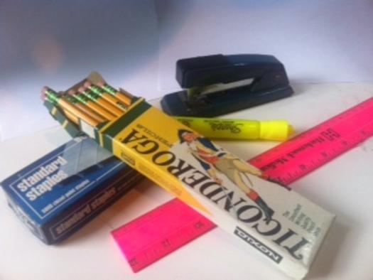 PHOTO: School supplies. Photo credit: Mark Scheerer