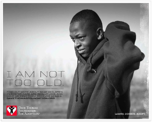 IMAGE: Teen foster youth awareness poster. Courtesy Dave Thomas Foundation for Adoption.