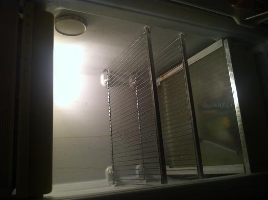 Empty refrigerator.  Photo credit: Mark Scheerer
