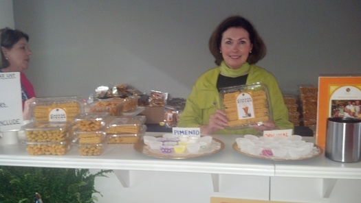 PHOTO: Cherie Richie of Dee Dee's Gourmet Cheese Straws of Charlotte. Photo by Stephanie Carson