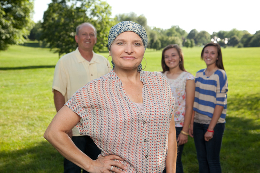 PHOTO: Breast cancer survivor Debbie and family. PHOTO CREDIT: James Meierotto.