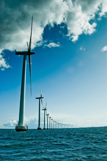 PHOTO: Wind turbines off the shore of Denmark. Courtesy of NWF.