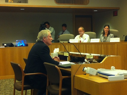 PHOTO: Gov. John Kitzhaber addresses members of the Oregon Commission on Public Safety. Photo credit: Shannon Wight