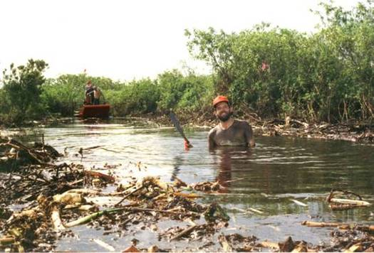 PHOTO: 1996 picture of Earthjustice attorney David Guest standing in Fisheating Creek. Courtesy: Earthjustice