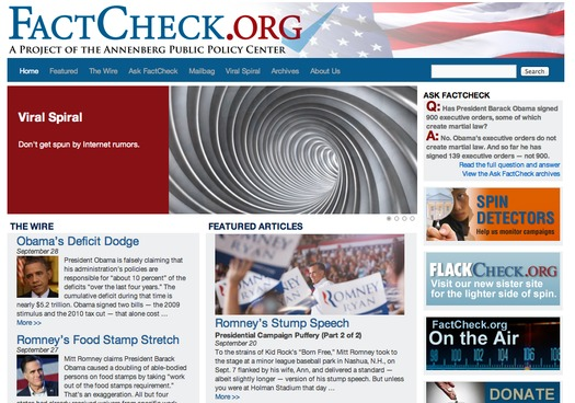 GRAPHIC: The content of political ads needs to be double-checked with reliable sources, like the website 'factcheck.org.'