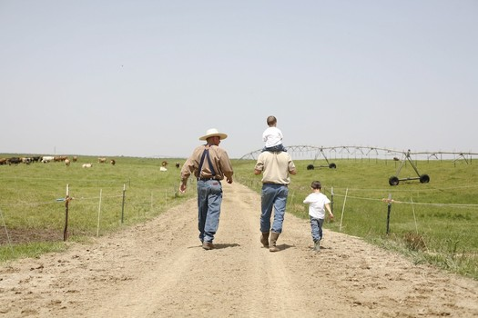Photo: Three generations of Burroughs family farmers