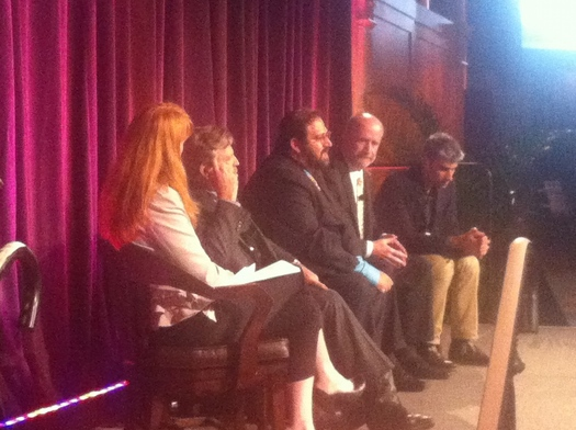 PHOTO Digital Freedom panel discussion at Commit!Forum2012, October 3. Courtesy Mark Scheerer.