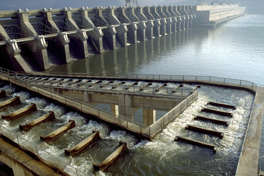 PHOTO: John Day Dam. Courtesy of U.S. Army Corps of Engineers, Northwest Division.