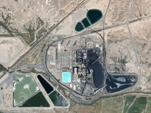 PHOTO: Reid Gardner power plant from above. Google images.