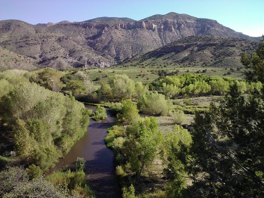 PHOTO: Gila River (a tributary of the Colorado River) and the Cliff-Gila Valley. PHOTO CREDIT: Allyson Siwik